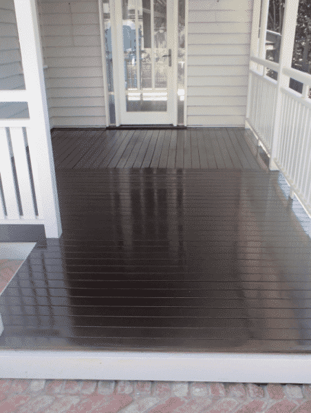 Black Stained Deck, Clayfield