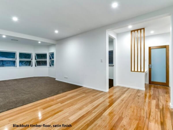 Blackbutt timber floor, Satin finish, Bardon, Brisbane (2)