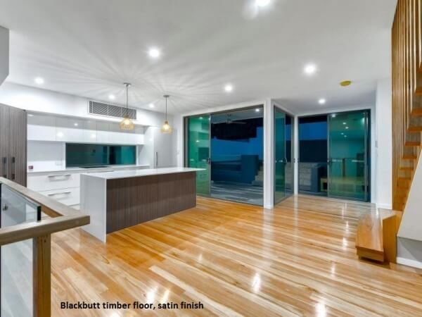 Blackbutt timber floor, Satin finish, Bardon, Brisbane