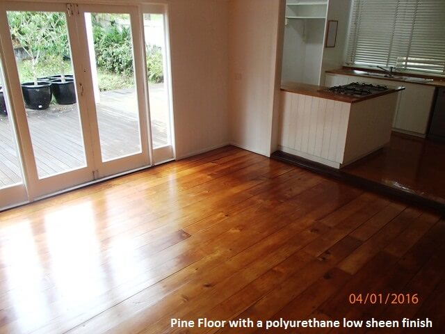 Timber Pine with polyurethane low sheen finish