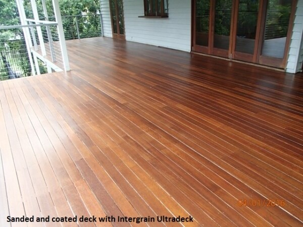 Deck in Windsor, Sanded and coated with Ultradeck