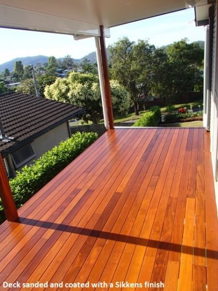 Timber deck sanded and coated with Sikkens finish