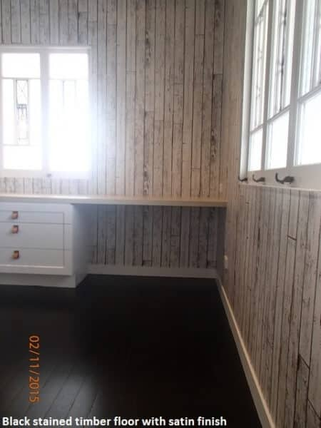 Black wooden floor in Clayfield, Brisbane