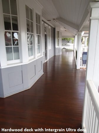 Queenslander deck with an Intergrain finish
