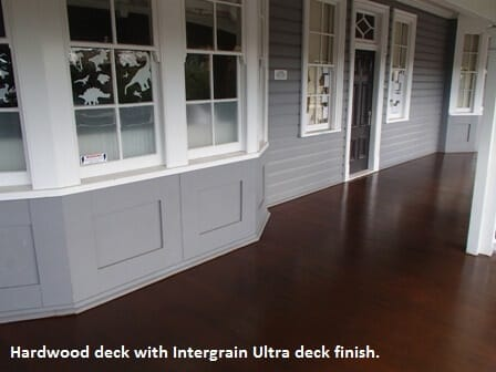 Clayfield deck coated with Intergrain