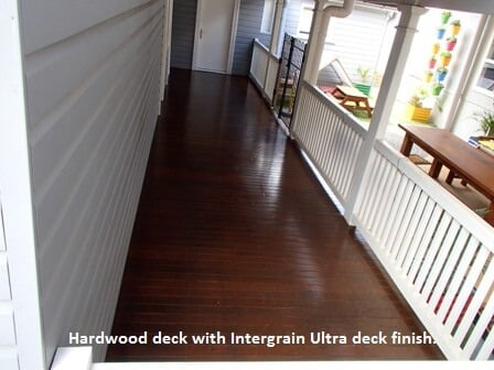 Deck coated by Brisbanes Finest Floors