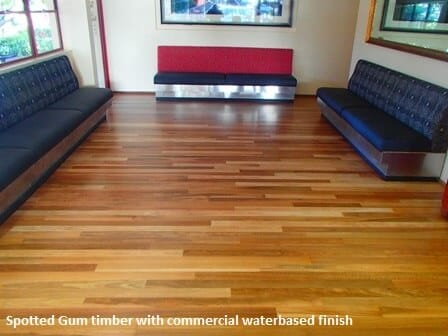 Commercial waterbased finish