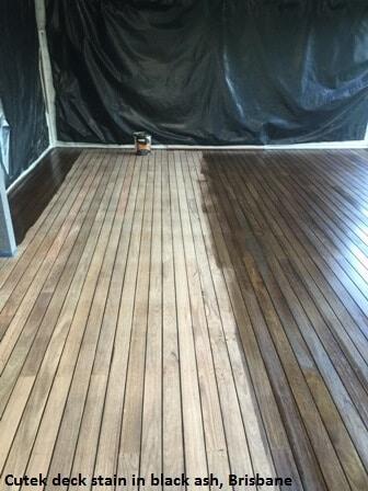 Black Ash deck stain, Coorparoo
