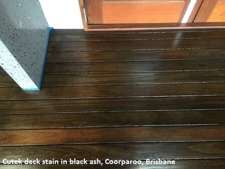 Deck stain in black ash, Coorparoo