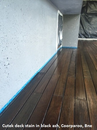 Cutek deck stain in black ash, Coorparoo