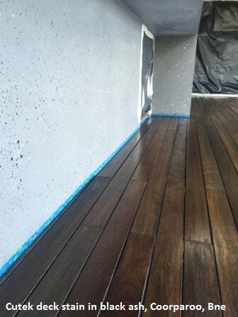 Cutek deck stain in black ash, Coorparoo