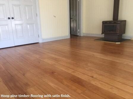 Hoop pine flooring in Pullenvale
