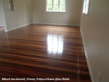 Polyurethane gloss finish