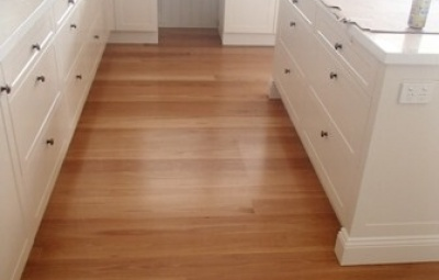 Blackbutt timber with waterbased satin finish.