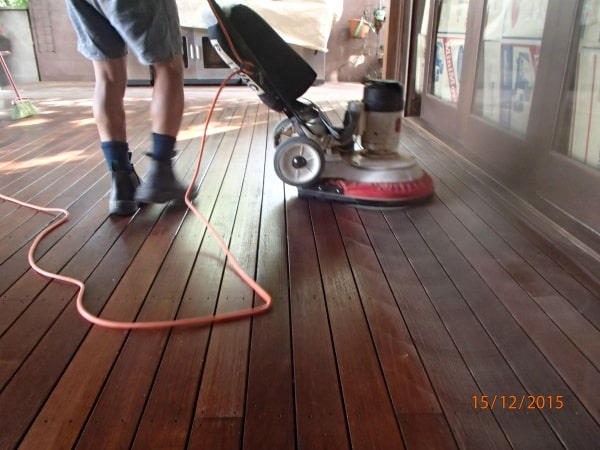 Floor Sander In Action