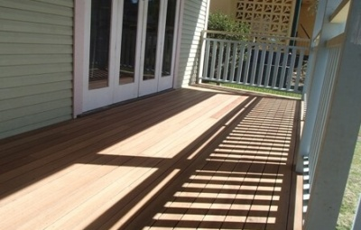 Deck sand ready for owner to coat