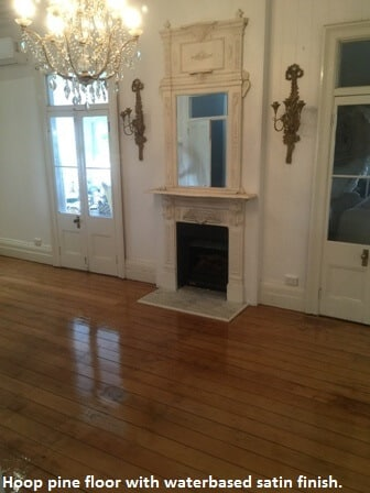 Hoop pine floor - after photo