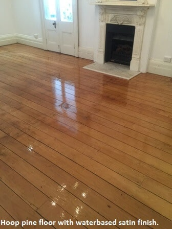 Hoop pine floor sanded and polished
