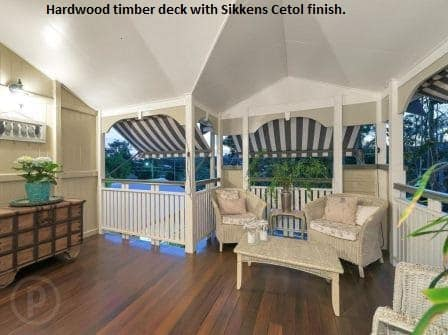 Hardwood timber decking with Sikkens Cetol deck finish