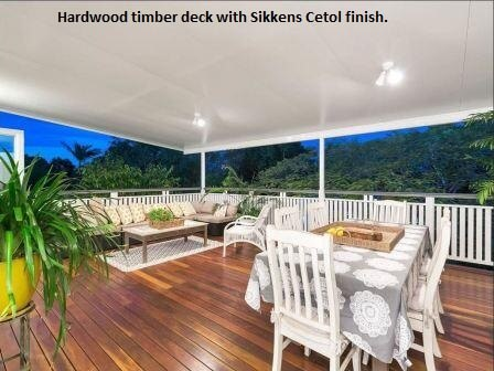 Timber decking with a Sikkens finish