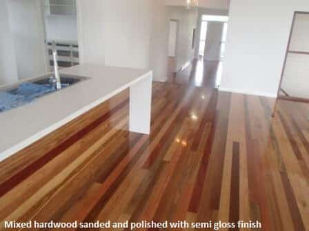 Hardwood with semi gloss finish
