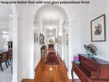 Floor sanding and polishing, hoop pine timber floor