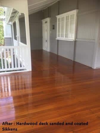 After photo hardwood deck