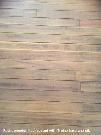 Timber floor with Tretex oil