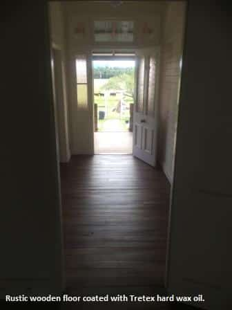 Rustic timber floor with hard wax oil