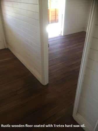 Timber floor, vintage look