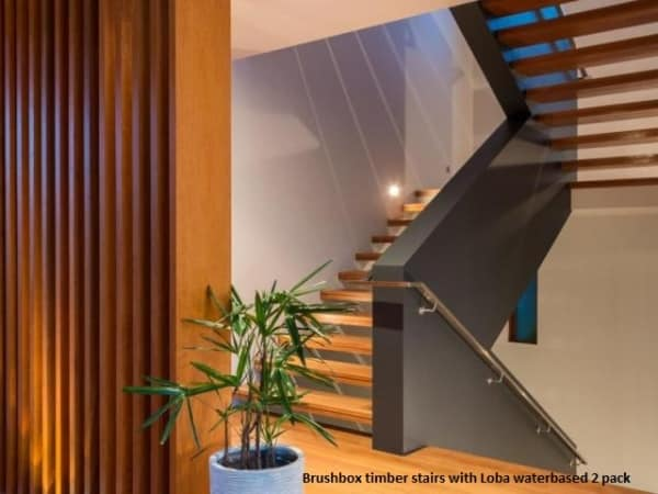 Timber blackbutt stairs with anti slip