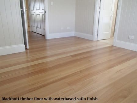 Blackbutt timber floor