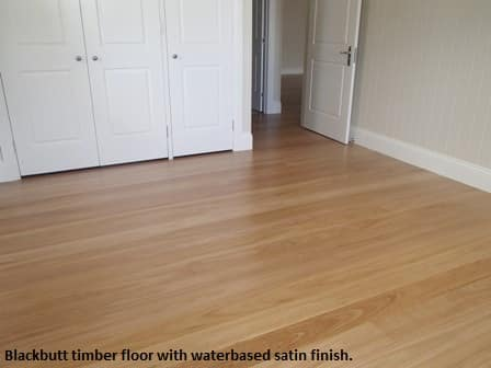 Blackbutt timber floor with waterbased finish