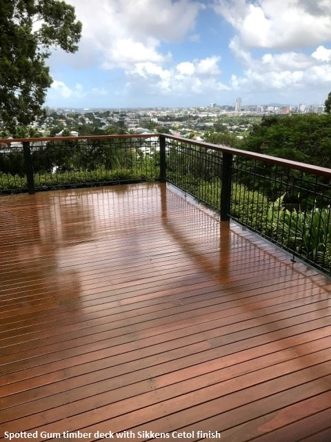 Spotted Gum timber deck