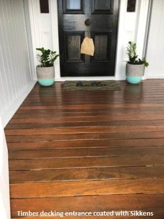 Front timber deck Sikkens