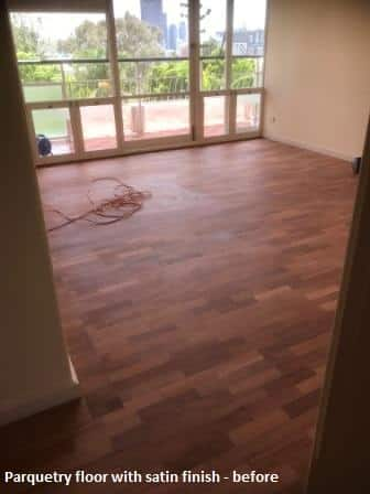 Parquetry Floor before