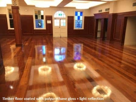 Wooden floor refinished in Brisbane