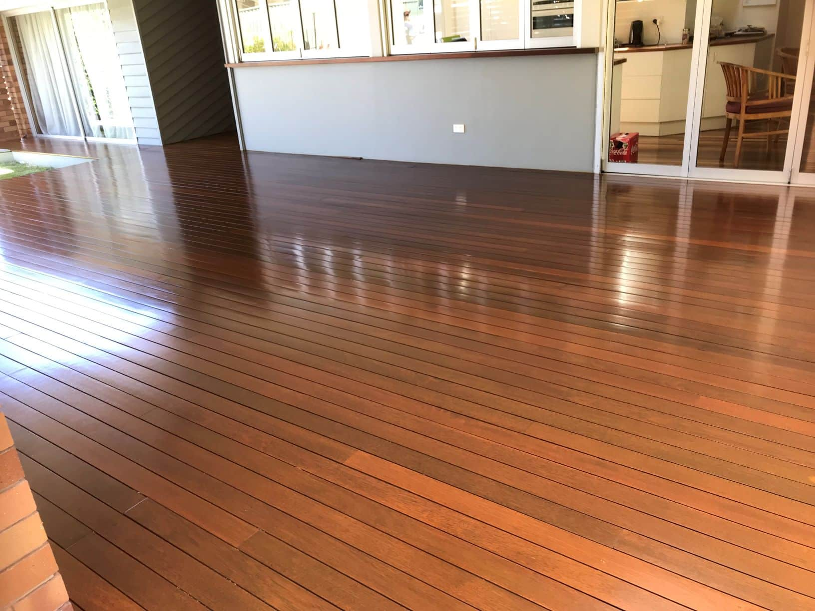 Timber deck coated with Sikkens in Ashgrove, Brisbane