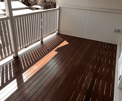 Timber deck with Intergrain coating