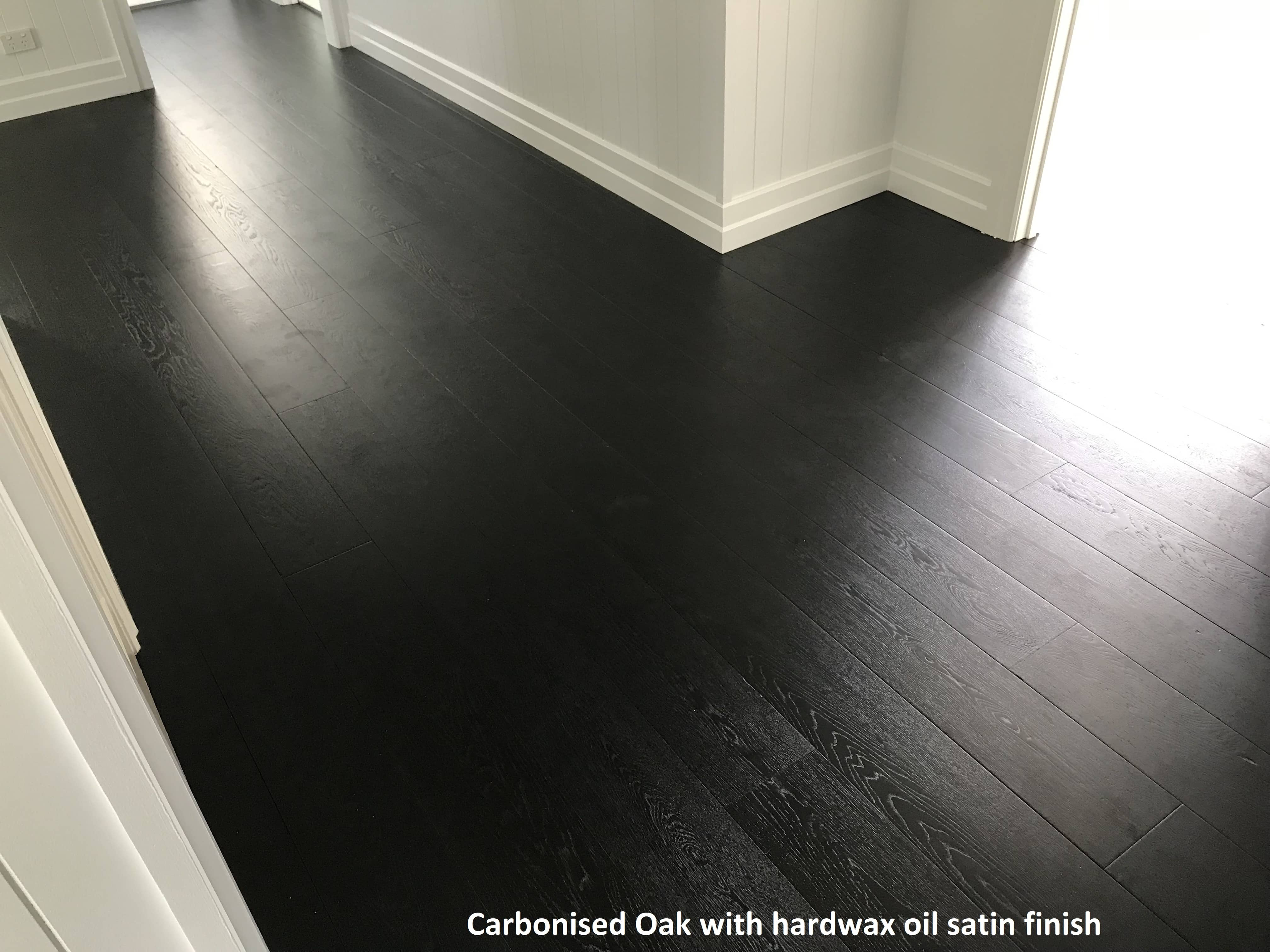 Carbonised Oak Hard wax oil satin finish