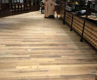 Mixed hardwood with a water based satin finish, Commercial property, Carindale