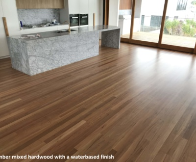 Timber mixed hardwood with a waterbased finish