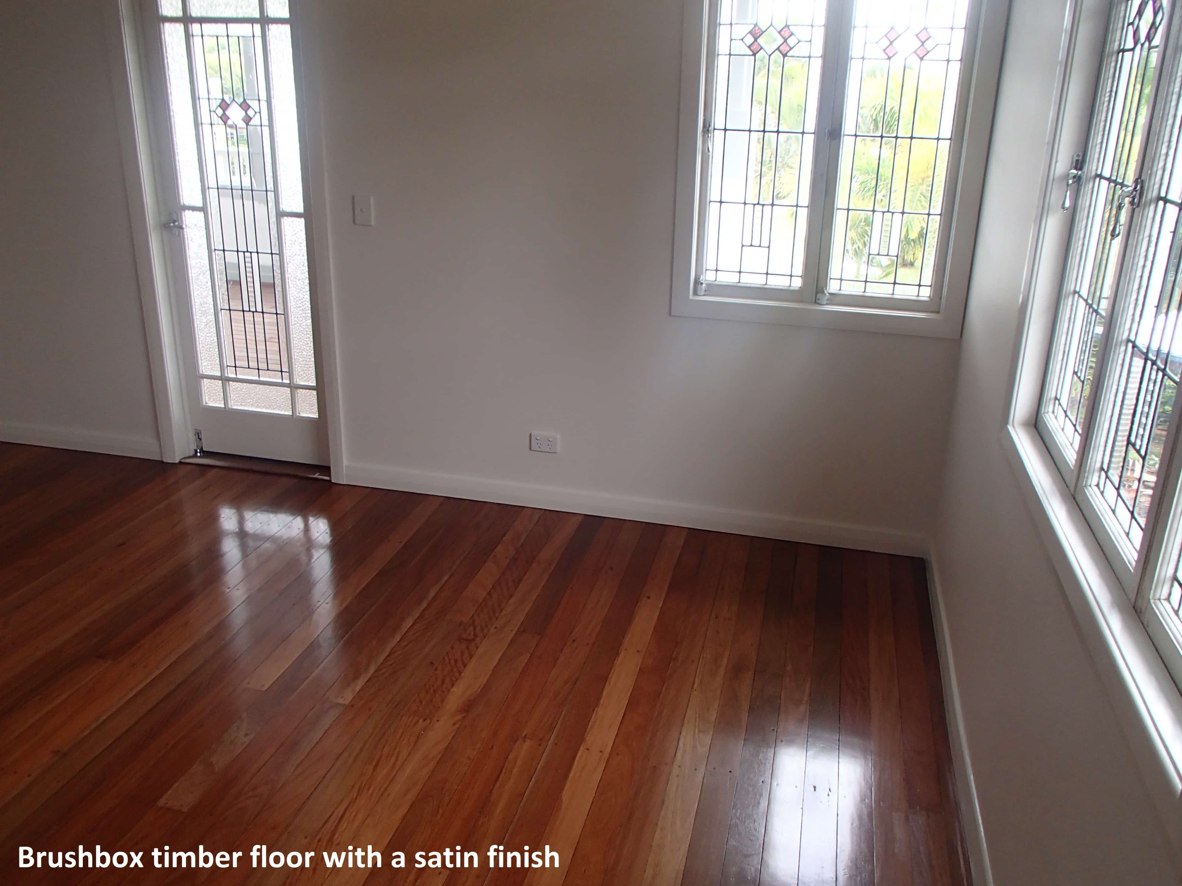 Brushbox timber floor