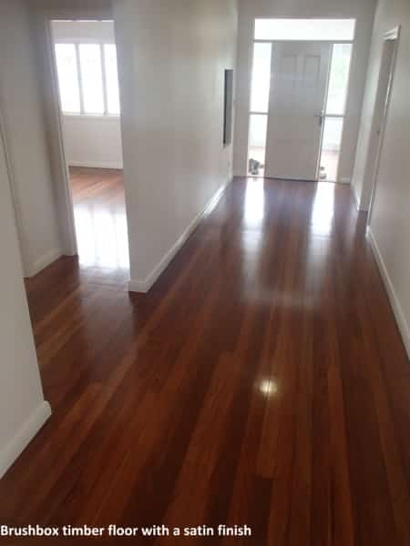 Brushbox timber floor