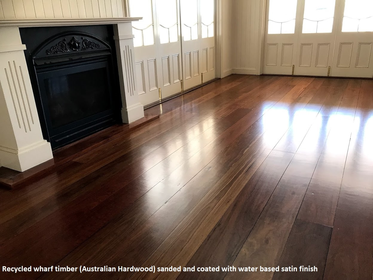 Recycled wharf timber floor sanding Balmoral, Brisbane