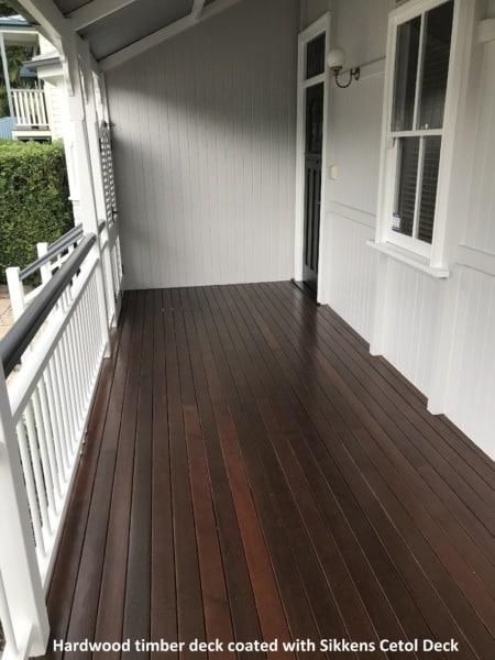 Hardwood timber deck on heritage house in Paddington Qld
