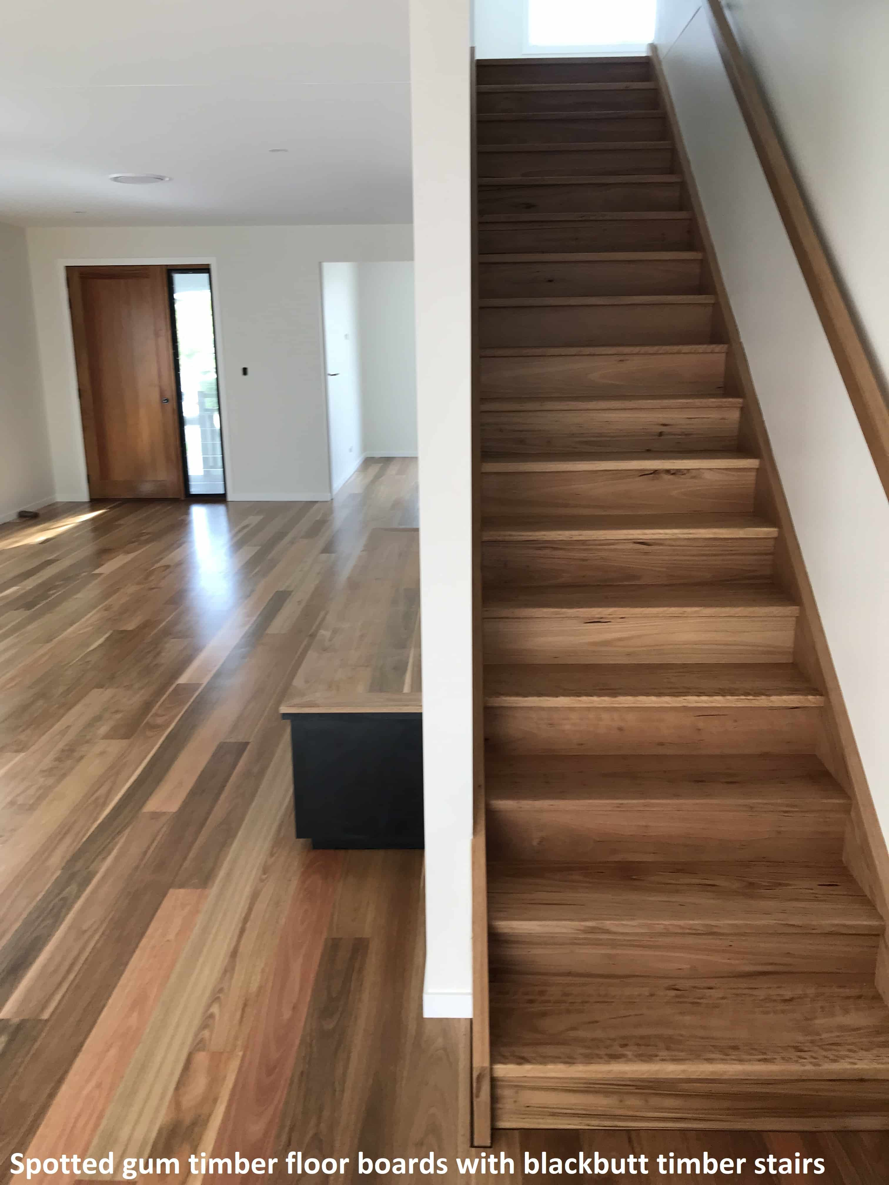 Spotted gum timber floor boards