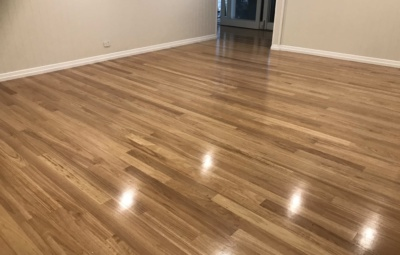 Timber floor, blackbutt